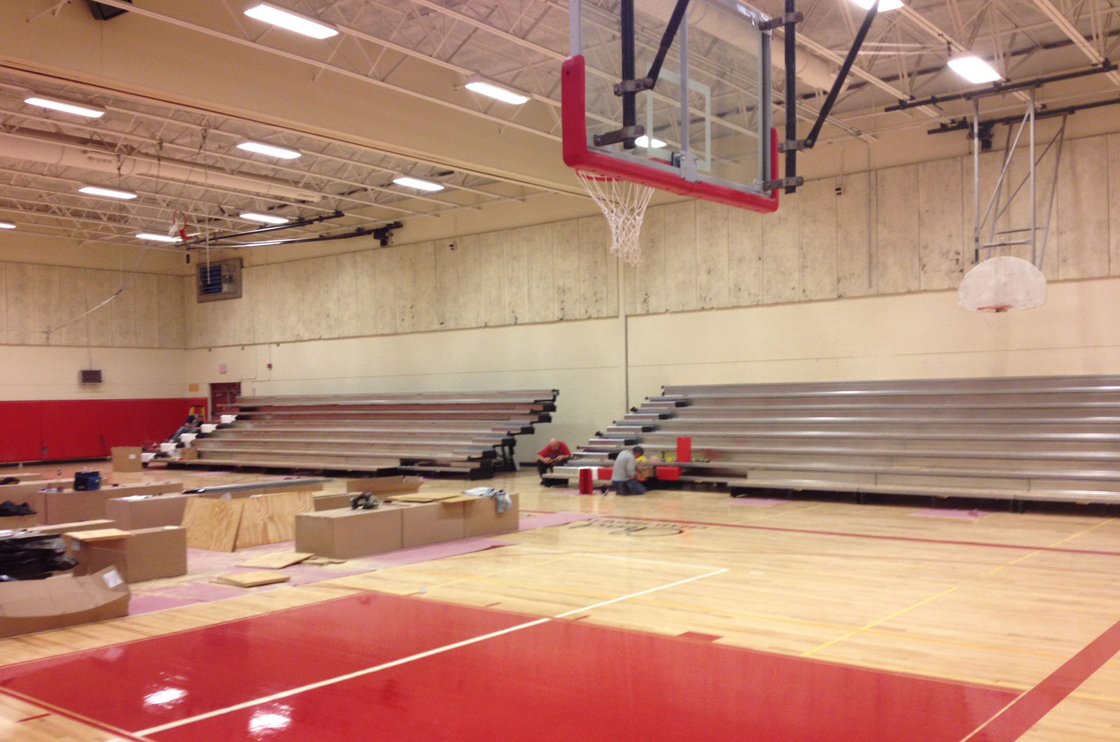 high school gym. Now, The Gymnasium Is A Safe, High-performance Venue That Serves As Source Of Pride For Its Community. High School Gym O